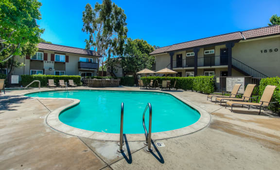 Glimmering Pool at Sage Creek Apartments in Simi Valley, California