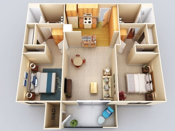 Floor Plan  Fiji 2Bed2Bath Floor Plan at 55+ FountainGlen Grand Isle, California