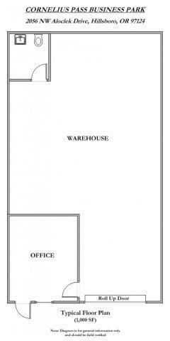 Floor Plan  Cornelius Pass Business Park 1000 Square Feet Floor Plan
