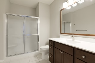 Glass Covered Shower at Waterstone Place, Minnetonka