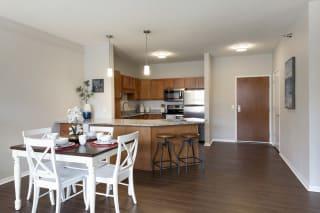 Modern Kitchen And Dining Area at Waterstone Place, Minnetonka, Minnesota