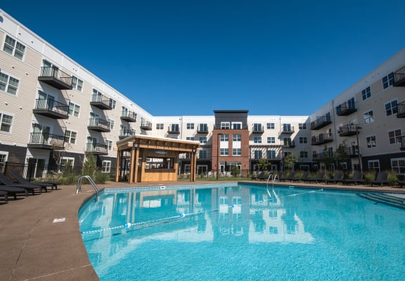 resort style pool at Mirada Apartments, Lewis Center, OH, 43035