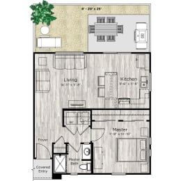 The Alcove Floor Plan at Avilla Northside, McKinney, 75071