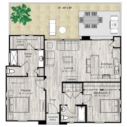 The Retreat Floor Plan at Avilla Northside, Texas