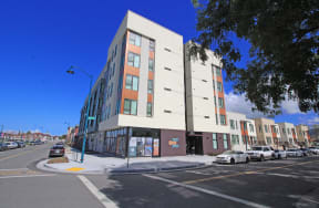 Exterior Building l Coliseum Connection Apartments in Oakland, CA