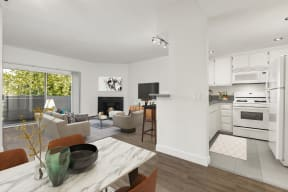 Apartments Hollywood CA - Cahuenga Heights Apartments Fully Equipped Kitchen with Energy Efficient Appliances, Plenty of Cabinetry and Breakfast Ba