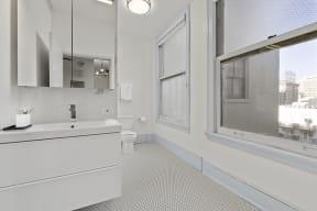 Bathroom at Santa Fe Lofts, 121 E 6th Street, Downtown Los Angeles, CA 90014