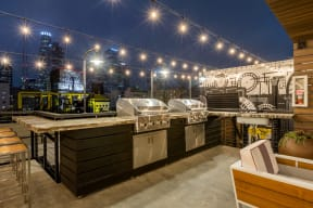 Rooftop Gas Grills at Santa Fe Lofts 121 E 6th Street, Los Angeles, CA 90014