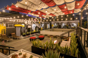 Rooftop Lounge Area at Santa Fe Lofts 121 E 6th Street, Los Angeles, CA 90014