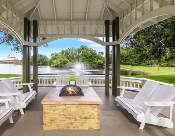 The Colony at Deerwood Apartments lakeviews and firepit