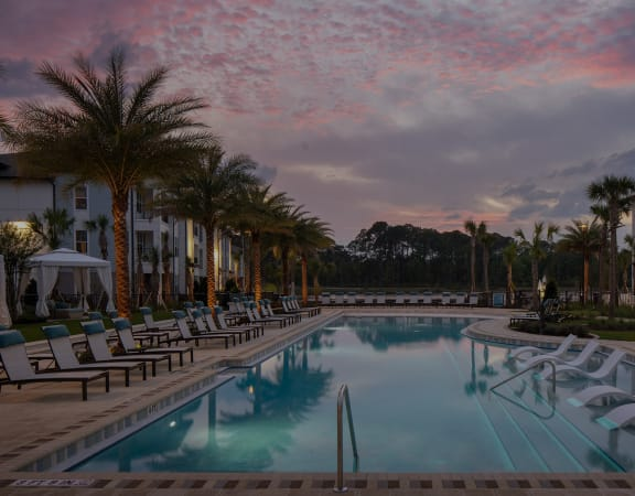 Drift Town Center East resort-style pool with surrounding sundeck