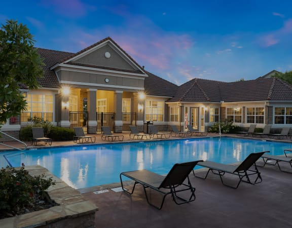Cordillera Ranch Apartments swimming pool with surrounding sundeck