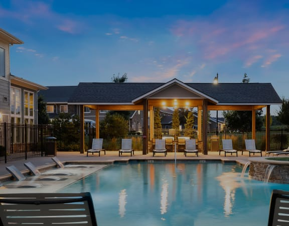 The Haven at Shoal Creek resort-style pool area
