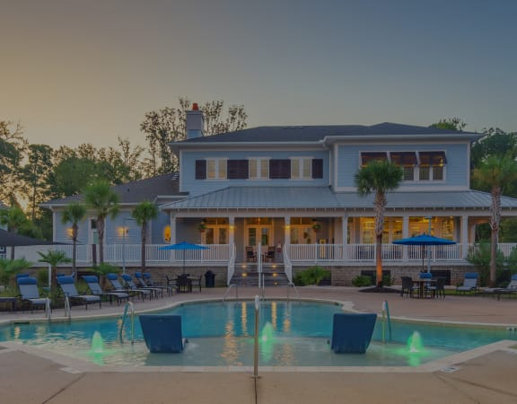 Windward Long Point Apartments resort-style pool with surrounding sundeck