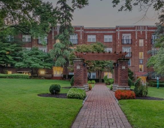 Hayes House pergola and landscaped walkway