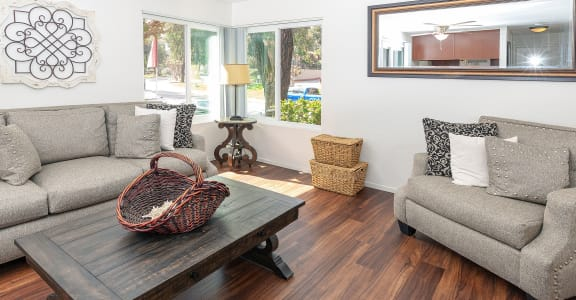 Open and Airy Living Room at Eucalyptus Grove Apartments in Chula Vista, CA 91910