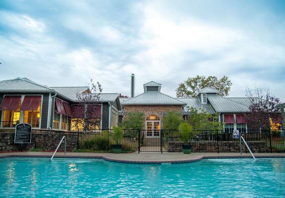 spacious swimming pool at Riverset Apartments, Memphis, 38103