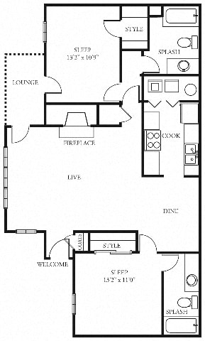 Seabright 2 bedroom 2 bath the addison at sandy springs apartment homes