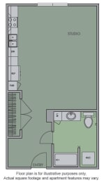 Floor Plan  A Floor Plan at Olympic by Windsor