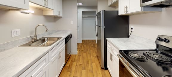 Upgraded finishes in a spacious kitchen
