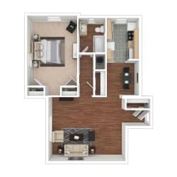 Floor Plan 1 Bedroom Floorplan GD