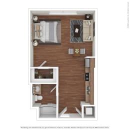 Studio Apartment Metro Gateway 3411 Grande Vista Pkwy  Riverside, CA 92503