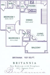 Floor Plan Britannia/Biltmore Renovated