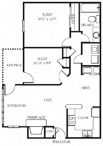 Arbor 2 bedroom 1 bath the addison at sandy springs apartment homes ga