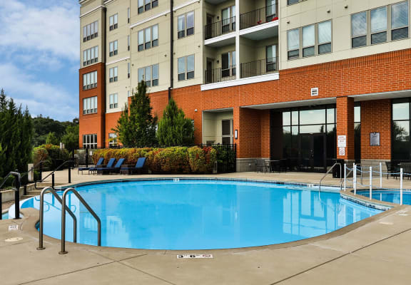 sparkling swimming pool at The Streets of St. Charles, Missouri, 63303