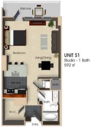 Floor plan at Aurora, Maryland, 20852