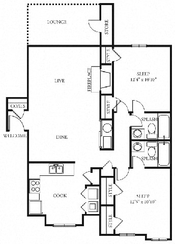 Cape 2 bedroom 2 bath the addison at sandy springs apartment homes
