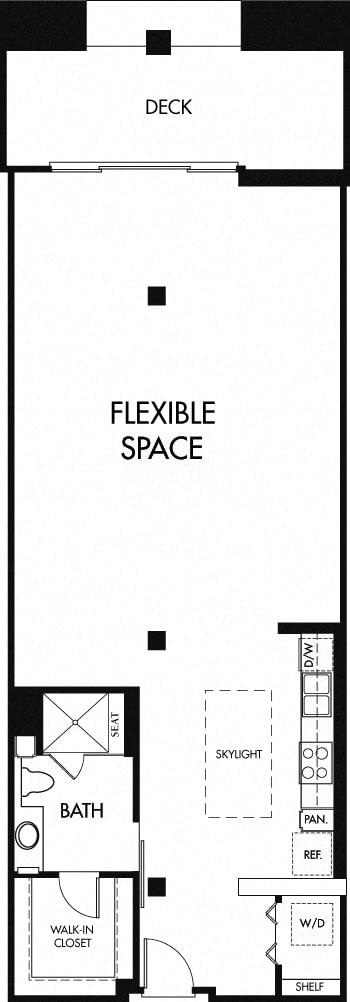 Floor Plan  Floor plan at Trio Apartments, Pasadena, California