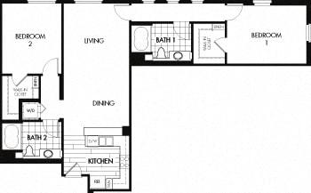 Floor Plan  Floor plan at Trio Apartments, Pasadena, 91101