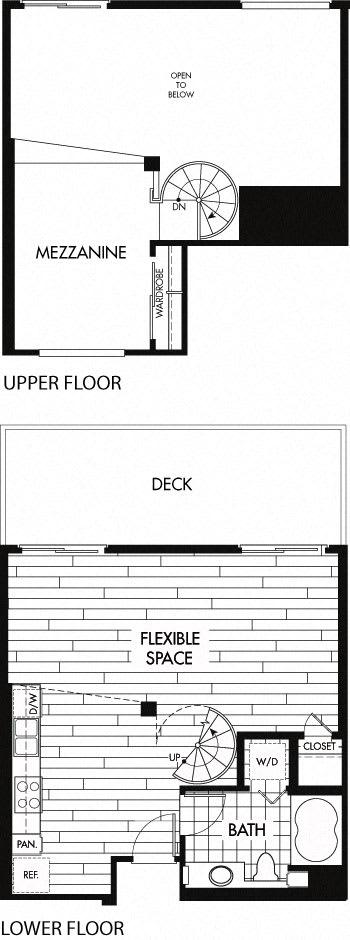 Floor Plan  Floor plan at Trio Apartments, Pasadena, CA 91101