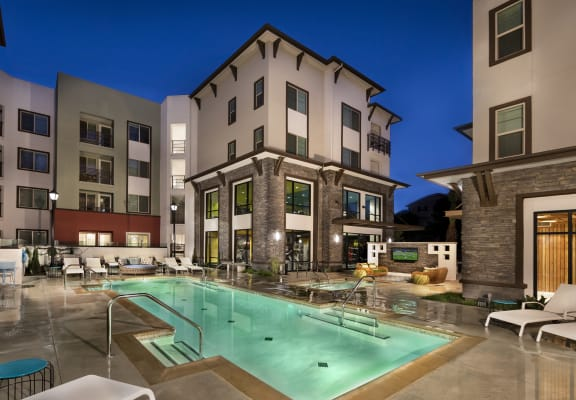 Captivating Resort-Style Pool area at Metro Gateway Apartments.