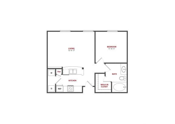 Floor Plan  The Saulet|bienville|1x1
