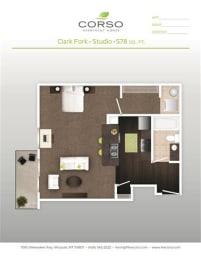 Studio 0 Bed 1 Bath Floor Plan at Corso Apartments, Montana, 59801