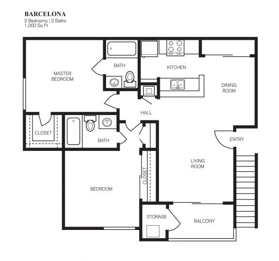 Floor Plan  Two Bedroom