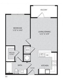 A1 FloorPlan at Paxton Cool Springs, Tennessee