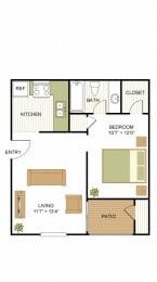 Efficiency Floorplan at Sunset Canyon, San Antonio, 78232