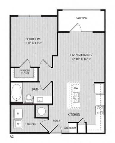Floor Plan  A2 FloorPlan at Paxton Cool Springs, Tennessee, 37067