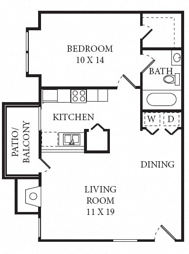 Floor Plan  Outrigger Floorplan 1B/1B