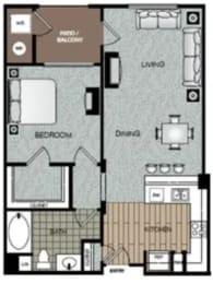 Posh Floor Plan at The Enclave at Warner Center