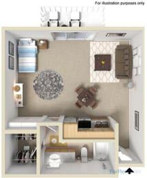 Point Bonita Apartment Homes - Studio 1 Bath Apartment