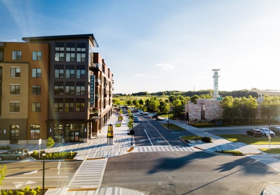 View of street, building, and green spaces at The Approach at Summit Park, 10250 Gateway Place, 45242