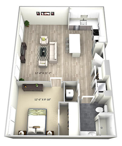Floor Plan  1 Bed 1 Bath TruaE Floor Plan at 735 Truman, Hyde Park, MA, 02136