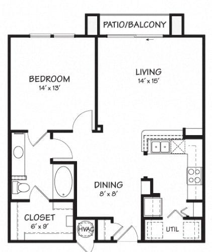 Floor Plan  One B Floor Plan  826 sq.ft.   The Reserve on Cave Creek