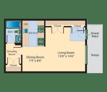 Floor Plan  S1 Floor Plan at The Fields of Alexandria, Alexandria, Virginia