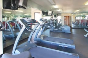 Roseville Apartments for Rent-The Phoenician Apartments Gym With Updated Machines And Mirrored Walls