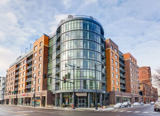 Street view of The Madison at Racine Apartments at The Madison at Racine, Illinois, 60607